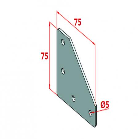 45x45, K10, Bağlantı Sacı Dört Yönlü-2