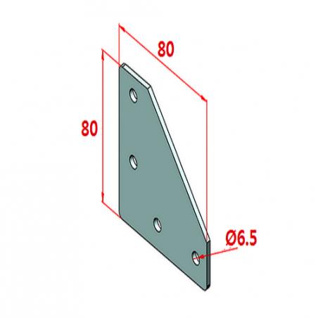 80x80, K8, Bağlantı Sacı Dört Yönlü-2