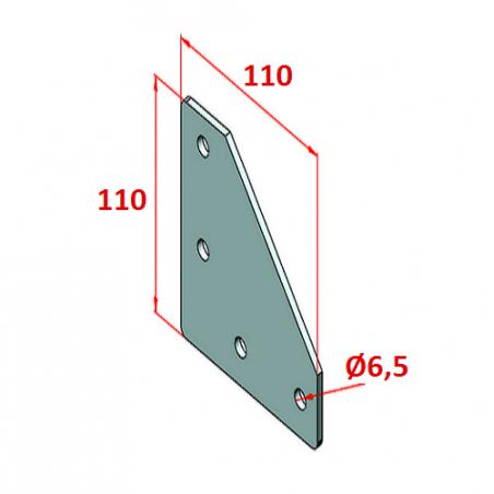 90x90, K10, Bağlantı Sacı Dört Yönlü-2