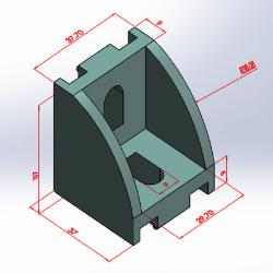 30x30 Radiuslu Profil Kapağı