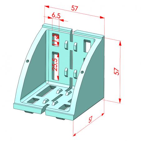 30x30, Köşe Bağlantı Kapağı, Kare-2