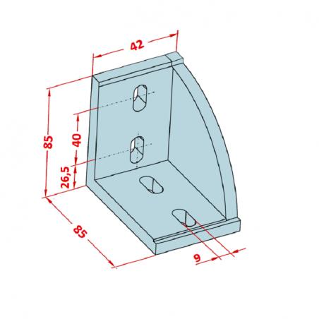 45x45, Geniş Köşe Bağlantı Kapağı-2