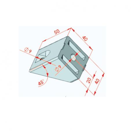 45x45, Radiuslu Köşe Bağlantı Kapağı-2