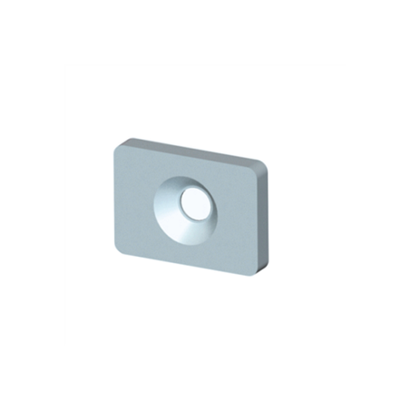 SFPM 12C, Kare Flanşlı Kısa Teflon Rulman, Standart Seri